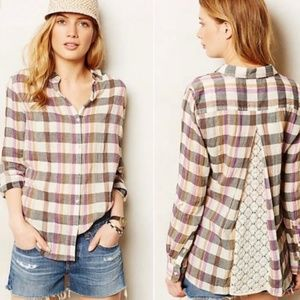 Anthropologie Isabella Sinclair Susana Check Plaid